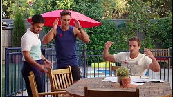 David Tanaka, Aaron Brennan, Kyle Canning in Neighbours Episode 8089