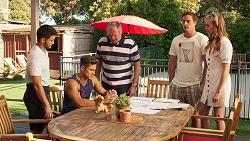 David Tanaka, Aaron Brennan, Karl Kennedy, Kyle Canning, Chloe Brennan in Neighbours Episode 8090