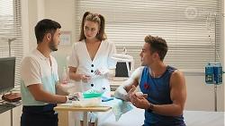 David Tanaka, Chloe Brennan, Aaron Brennan in Neighbours Episode 8090