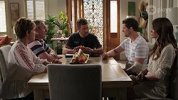 Susan Kennedy, Karl Kennedy, Mark Brennan, Finn Kelly, Elly Brennan in Neighbours Episode 8090