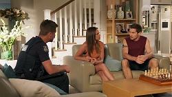 Mark Brennan, Bea Nilsson, Ned Willis in Neighbours Episode 8090