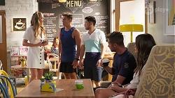 Chloe Brennan, Aaron Brennan, David Tanaka, Mark Brennan, Elly Brennan in Neighbours Episode 8090