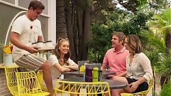 Kyle Canning, Chloe Brennan, Gary Canning, Amy Williams in Neighbours Episode 8090
