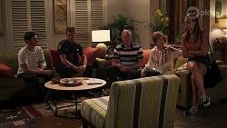 Finn Kelly, Mark Brennan, Karl Kennedy, Susan Kennedy, Bea Nilsson in Neighbours Episode 8090