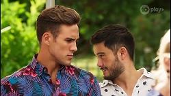 Aaron Brennan, David Tanaka in Neighbours Episode 8091