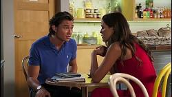 Leo Tanaka, Elly Brennan in Neighbours Episode 8093