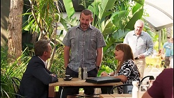 Paul Robinson, Toadie Rebecchi, Terese Willis, Karl Kennedy in Neighbours Episode 8095