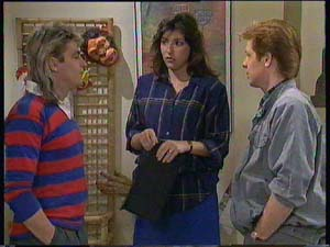 Clive Gibbons, Susan Cole, Shane Ramsay in Neighbours Episode 0406