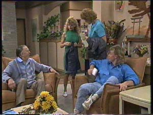 Dan Ramsay, Charlene Mitchell, Madge Bishop, Scott Robinson in Neighbours Episode 0407