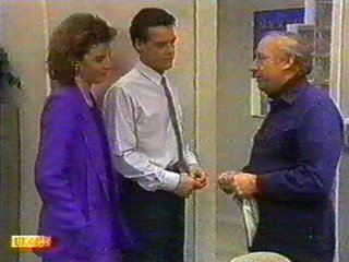 Paul Robinson, Gail Robinson, Rob Lewis in Neighbours Episode 0529