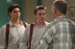Tad Reeves, Paul McClain, Harold Bishop in Neighbours Episode 3740