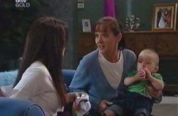 Ben Kirk, Susan Kennedy, Libby Kennedy in Neighbours Episode 4075