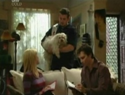 Dee Bliss, Bob, Toadie Rebecchi, Darcy Tyler in Neighbours Episode 4079