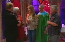 Bishop Don McDermott, Rosie Hoyland, Nina Tucker, Harold Bishop, Lou Carpenter in Neighbours Episode 4085