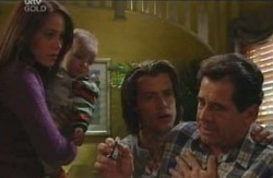 Ron Kirk, Drew Kirk, Ben Kirk, Libby Kennedy in Neighbours Episode 4085