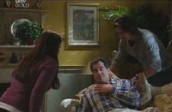Libby Kennedy, Drew Kirk, Ron Kirk in Neighbours Episode 4086