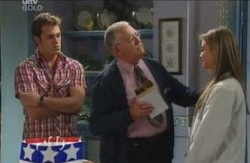 Stuart Parker, Harold Bishop, Felicity Scully in Neighbours Episode 4086