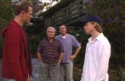 Max Hoyland, Lou Carpenter, Karl Kennedy, Boyd Hoyland in Neighbours Episode 4089
