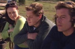 Libby Kennedy, Dougal Kirk, Drew Kirk in Neighbours Episode 4090