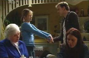 Rosie Hoyland, Steph Scully, Stuart Parker, Libby Kennedy in Neighbours Episode 4091
