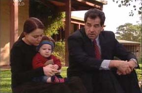 Ron Kirk, Libby Kennedy, Ben Kirk in Neighbours Episode 4091
