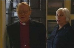 Bishop Don McDermott, Rosie Hoyland in Neighbours Episode 4093