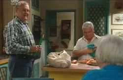 Harold Bishop, Lou Carpenter, Rosie Hoyland in Neighbours Episode 4098