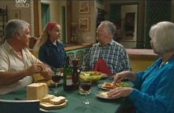 Lou Carpenter, Summer Hoyland, Harold Bishop, Rosie Hoyland in Neighbours Episode 4098