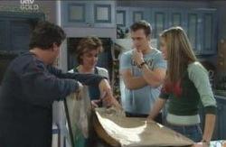 Joe Scully, Lyn Scully, Stuart Parker, Felicity Scully in Neighbours Episode 4121