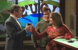 Martin Cook, Darcy Tyler, Sheena Wilson in Neighbours Episode 4121