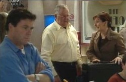 Joe Scully, Harold Bishop, Susan Kennedy in Neighbours Episode 4124