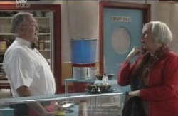 Harold Bishop, Rosie Hoyland in Neighbours Episode 4125