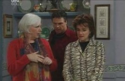 Rosie Hoyland, Joe Scully, Lyn Scully in Neighbours Episode 4125