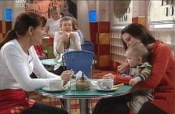 Susan Kennedy, Libby Kennedy, Ben Kirk in Neighbours Episode 4127