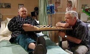 Lou Carpenter, Harold Bishop in Neighbours Episode 4404