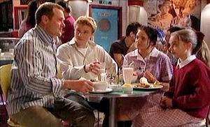 Max Hoyland, Boyd Hoyland, Sky Mangel, Summer Hoyland in Neighbours Episode 4411