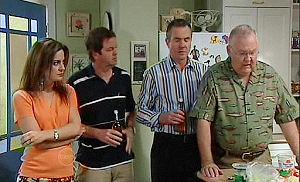 Liljana Bishop, David Bishop, Karl Kennedy, Harold Bishop in Neighbours Episode 4797