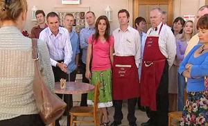 Karl Kennedy, Liljana Bishop, David Bishop, Harold Bishop in Neighbours Episode 4797