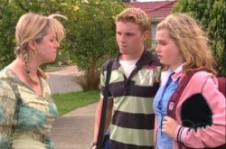 Janelle Timmins, Boyd Hoyland, Janae Timmins in Neighbours Episode 4906