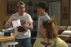 Stingray Timmins, Zeke Kinski, Bree Timmins in Neighbours Episode 4908