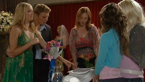 Janae Timmins, Boyd Hoyland, Summer Hoyland, Bree Timmins in Neighbours Episode 4999