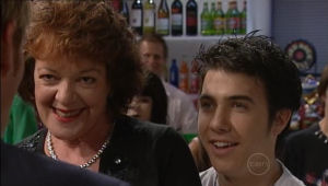 Mishka Schneiderova, Stingray Timmins in Neighbours Episode 5004
