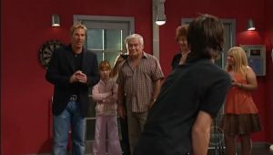 Shane Warne, Lou Carpenter, Mishka Schneiderova in Neighbours Episode 5004