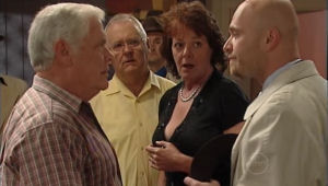 Lou Carpenter, Harold Bishop, Mishka Schneiderova in Neighbours Episode 5005
