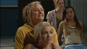 Janelle Timmins, Sky Mangel in Neighbours Episode 5008