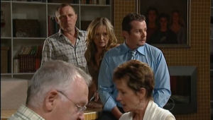 Harold Bishop, Max Hoyland, Steph Scully, Toadie Rebecchi, Susan Kennedy in Neighbours Episode 5010
