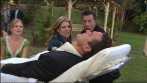 Elle Robinson, Izzy Hoyland, Allan Steiger, Paul Robinson in Neighbours Episode 5012