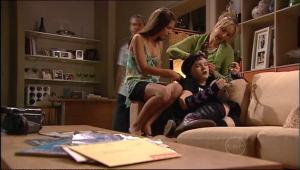 Stingray Timmins, Rachel Kinski, Bree Timmins, Janelle Timmins in Neighbours Episode 5021