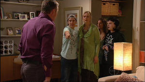 Karl Kennedy, Stingray Timmins, Janelle Timmins, Rachel Kinski, Bree Timmins in Neighbours Episode 5021
