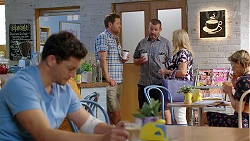 Finn Kelly, Shane Rebecchi, Toadie Rebecchi, Sheila Canning in Neighbours Episode 8096